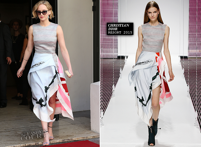Jennifer Lawrence in Dior | 'The Hunger Games: Mockingjay - Part 1' Press - 2014 Cannes Film Festival