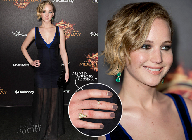 Jennifer Lawrence in Dior Couture | 'The Hunger Games: Mockingjay Part 1' Party - 2014 Cannes Film Festival