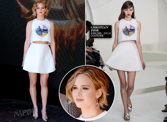 Jennifer Lawrence in Dior Couture | 'The Hunger Games: Mockingjay Part 1' Photocall - 2014 Cannes Film Festival