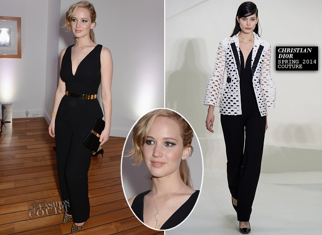 Jennifer Lawrence in Dior Couture | Vanity Fair & Armani Party – 2014 Cannes Film Festival