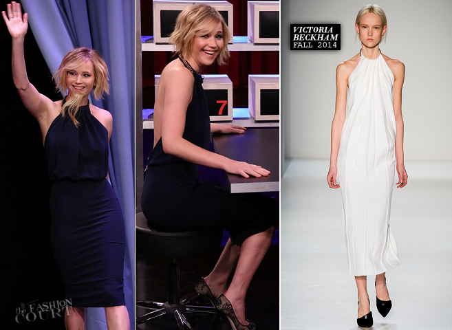Jennifer Lawrence in Victoria Beckham | 'The Tonight Show starring Jimmy Fallon'