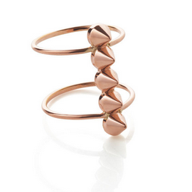 Jillian Dempsey Fine Jewelry 18k Rose Gold Spike Ring