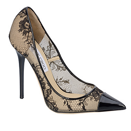 Jimmy Choo AWARD Lace and Patent Pumps
