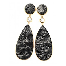 Jorge Adeler Black Tourmaline and Diamond Earrings