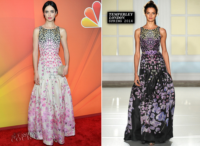 Krysten Ritter in Temperley London | NBC Upfront 2014