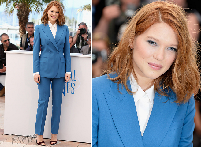 Léa Seydoux in Prada | 'Saint Laurent' Photocall - 2014 Cannes Film Festival