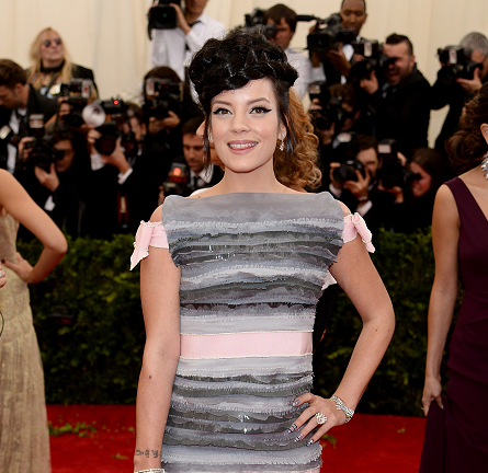 Lily Allen in Chanel Couture | MET Gala 2014