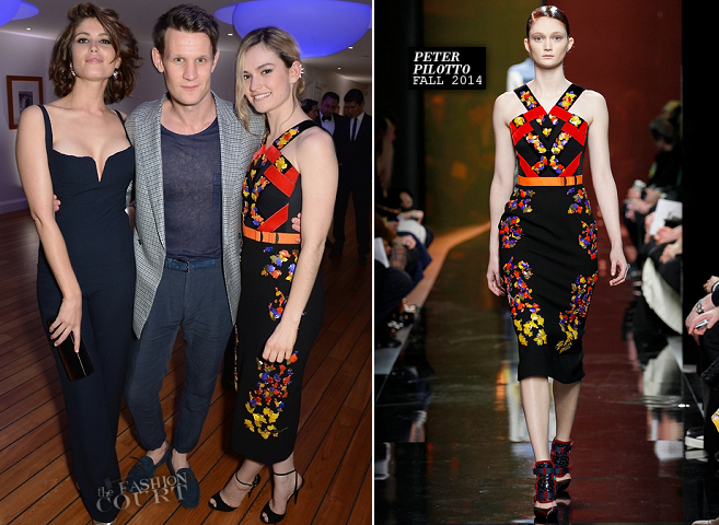 Lily James in Peter Pilotto | Vanity Fair & Armani Party – 2014 Cannes Film Festival