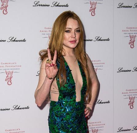 Lindsay Lohan in Julien Macdonald | Gabrielle's Gala 2014