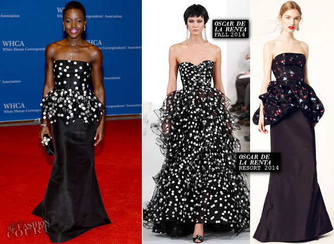Lupita Nyong'o in Oscar de la Renta | 2014 White House Correspondents' Dinner