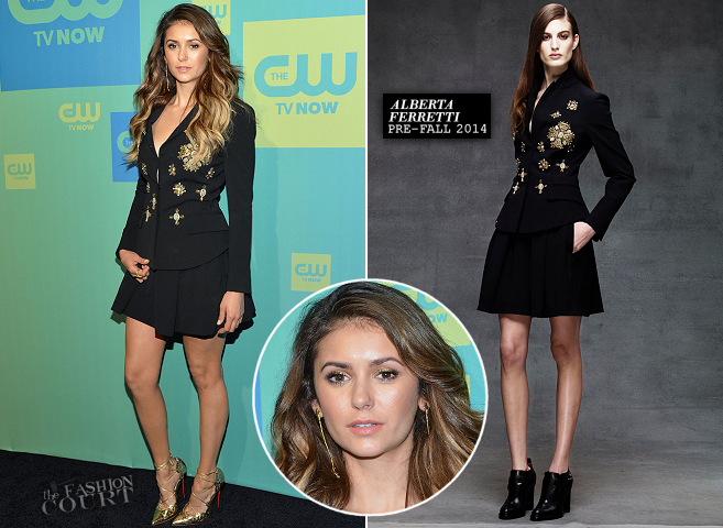 Nina Dobrev in Alberta Ferretti | The CW Upfronts 2014