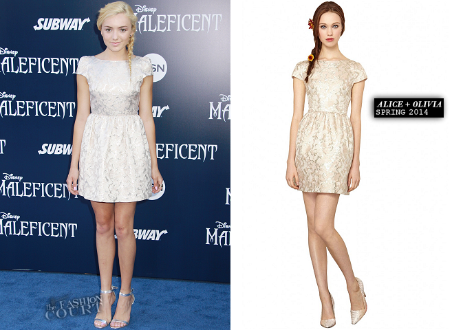 Peyton List in Alice + Olivia | 'Maleficent' Hollywood Premiere