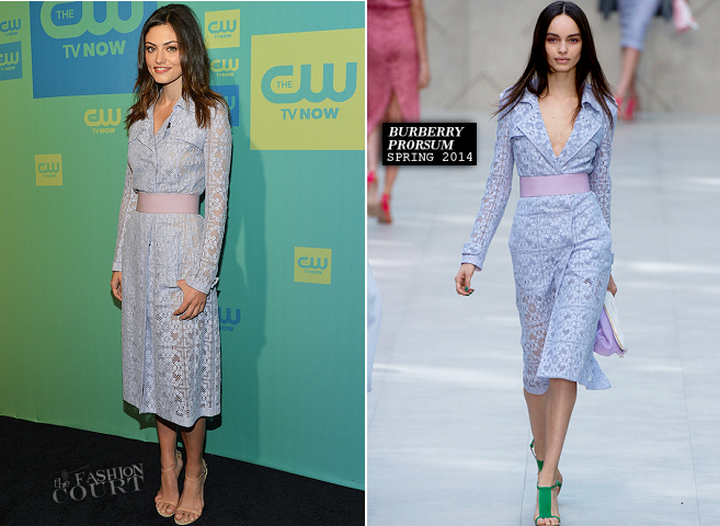 Phoebe Tonkin in Burberry Prorsum | The CW Upfronts 2014