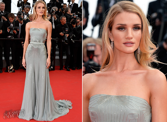 Rosie Huntington-Whitley in Gucci Première | 'The Search' Premiere - 2014 Cannes Film Festival
