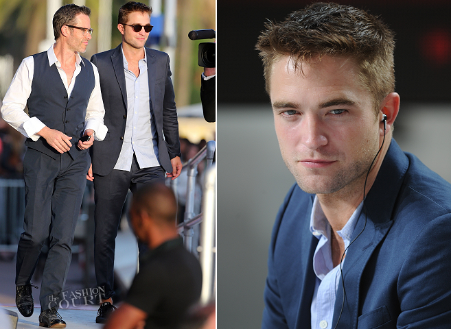 Robert Pattinson in Gucci | 'Le Grand Journal' - 2014 Cannes Film Festival