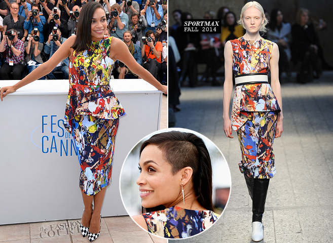 Rosario Dawson in Sportmax | 'The Captive' Photocall - 2014 Cannes Film Festival