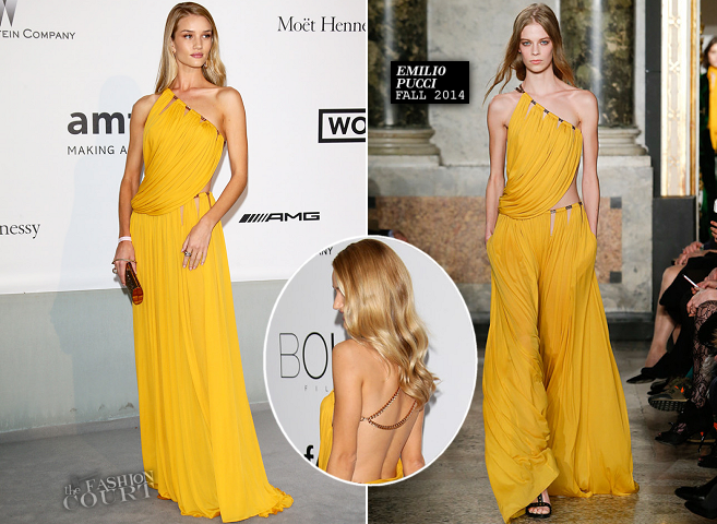 Rosie Huntington-Whiteley in Emilio Pucci | amfAR's Cinema Against AIDS Gala 2014