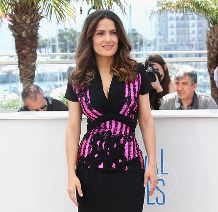 Salma Hayek in Bottega Veneta | 'Hommage Au Cinema D'Animation' Photocall - 2014 Cannes Film Festival