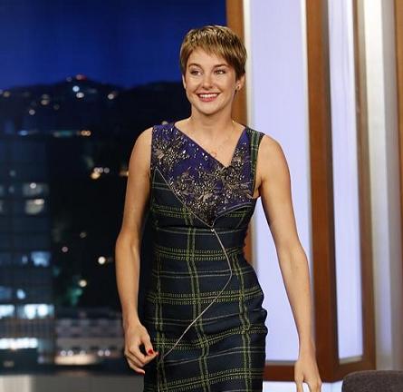 Shailene Woodley in Antonio Berardi | 'Jimmy Kimmel Live'