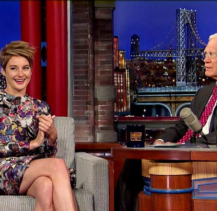 Shailene Woodley in Valentino | 'Late Show with David Letterman'