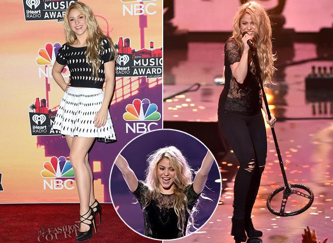 Shakira in Azzedine Alaïa & Roberto Cavalli | 2014 iHeartRadio Music Awards