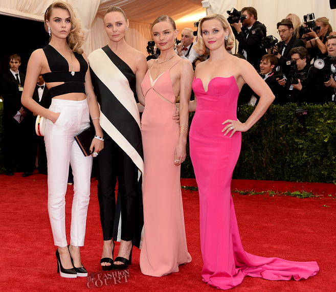 Cara Delevingne, Stella McCartney, Kate Bosworth & Reese Witherspoon in Stella McCartney | MET Gala 2014
