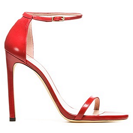 Stuart Weitzman NUDIST Red Patent Sandals