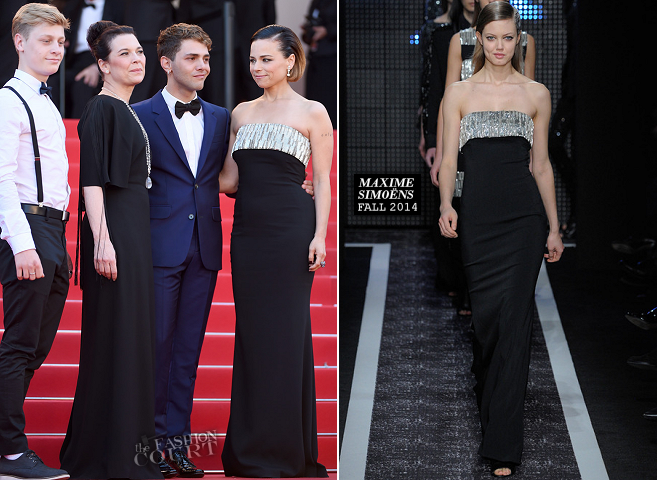 Suzanne Clement in Maxime Simoëns | 'A Fistful of Dollars' Screening - 2014 Cannes Film Festival Closing Ceremony