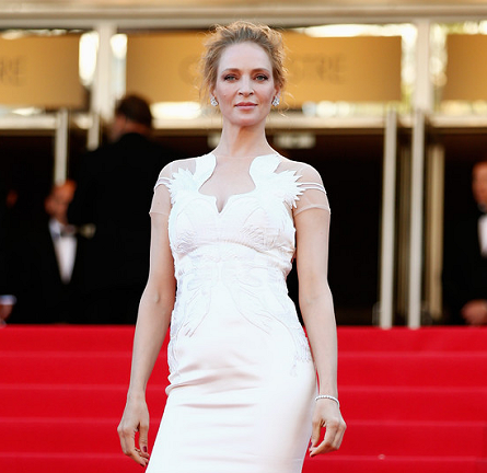 Uma Thurman in Marchesa | 'A Fistful of Dollars' Screening - 2014 Cannes Film Festival Closing Ceremony