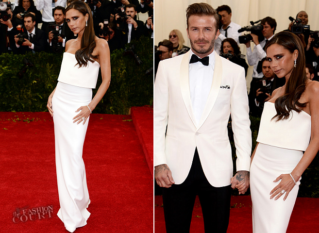 Victoria Beckham in Victoria Beckham & David Beckham in Ralph Lauren | MET Gala 2014