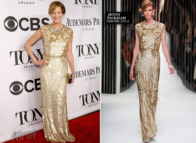 Anna Gunn in Jenny Packham | 2014 Tony Awards