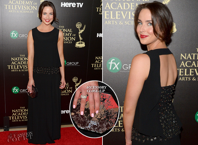 Ashleigh Brewer in Alberta Ferretti | 2014 Daytime Emmy Awards