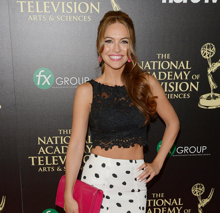 Chrishell Stause in Sherri Hill | 2014 Daytime Emmy Awards