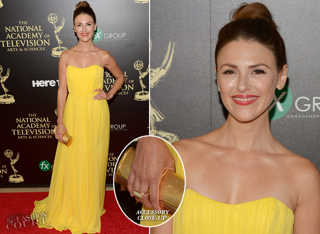 Elizabeth Hendrickson in Shareen | 2014 Daytime Emmy Awards