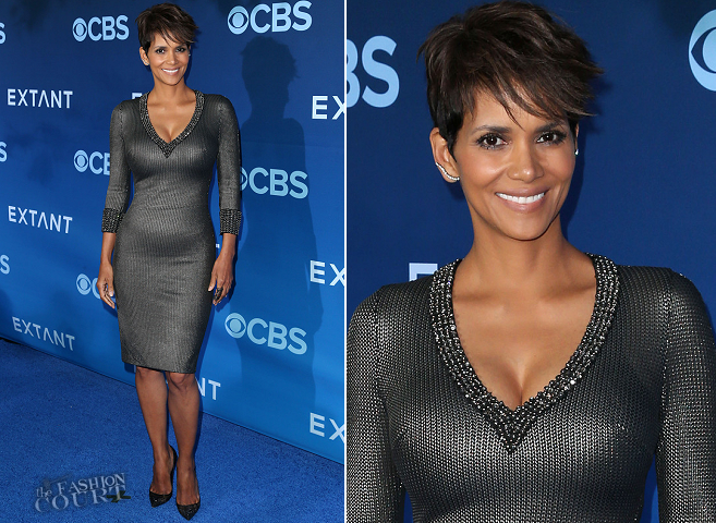 Halle Berry in Jenny Packham | 'Extant' Premiere
