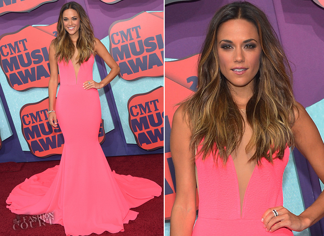 Jana Kramer in Michael Costello Couture | 2014 CMT Music Awards