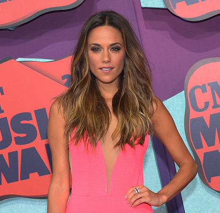 Jana Kramer in Michael Costello Couture   2014 CMT Music Awards