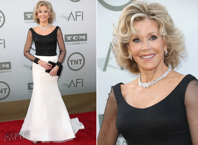 Jane Fonda in Vera Wang | 2014 AFI Life Achievement Award: A Tribute to Jane Fonda