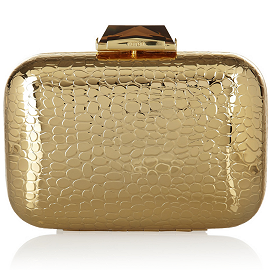 Kotur 'Morley' Croc-Embossed Box Clutch Bag