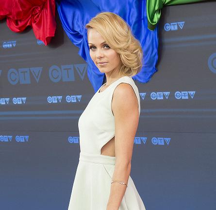 Laura Vandervoort in Rachel Zoe   CTV Upfront 2014
