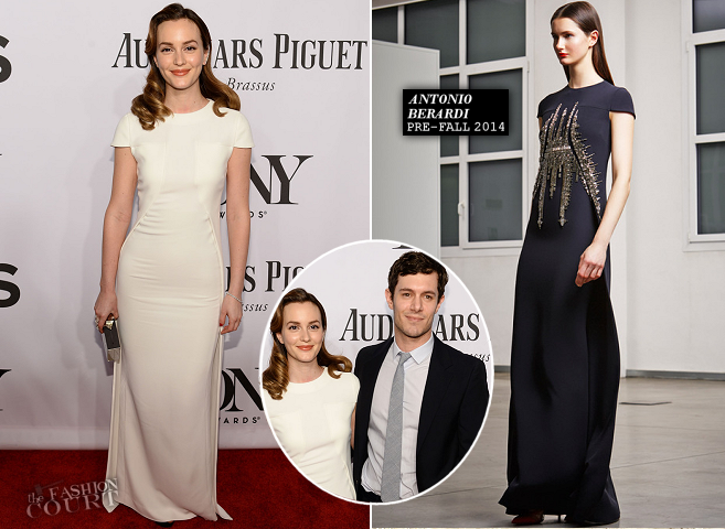 Leighton Meester in Antonio Berardi | 2014 Tony Awards