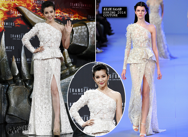 Li Bingbing in Elie Saab Couture | 'Transformers: Age of Extinction' Berlin Premiere