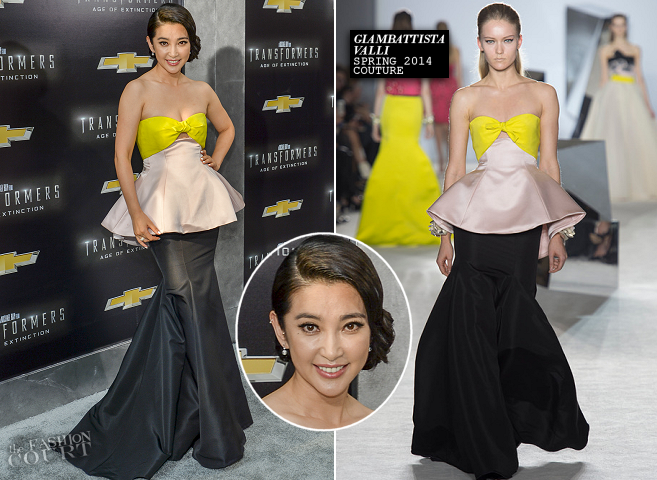 Li Bingbing in Giambattista Valli Couture | 'Transformers: Age of Extinction' NYC Premiere