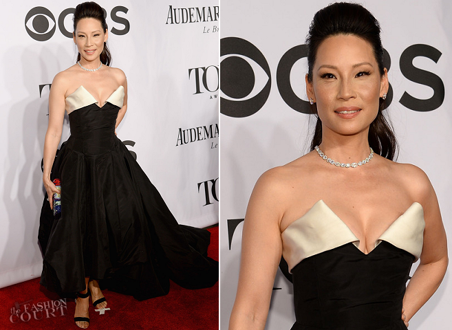 Lucy Liu in Vivienne Westwood | 2014 Tony Awards
