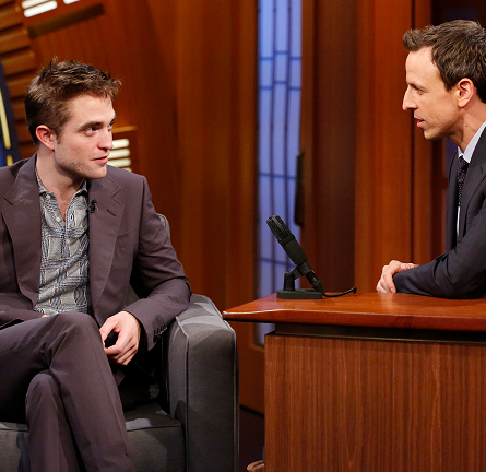 Robert Pattinson in Gucci | 'Late Night with Seth Meyers'