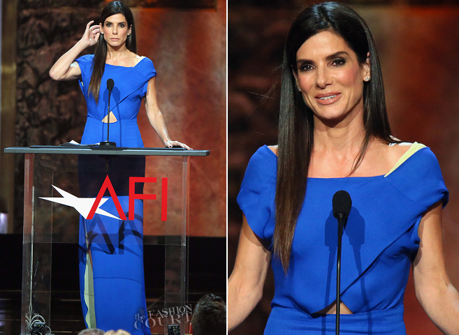 Sandra Bullock in Vionnet | 2014 AFI Life Achievement Award: A Tribute to Jane Fonda