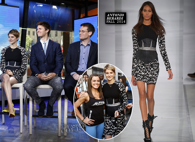 Shailene Woodley in Antonio Berardi | 'The Today Show'