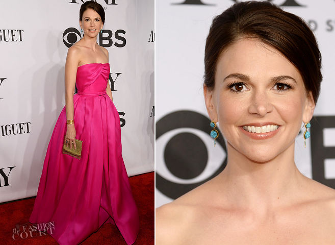 Sutton Foster in Reem Acra | 2014 Tony Awards
