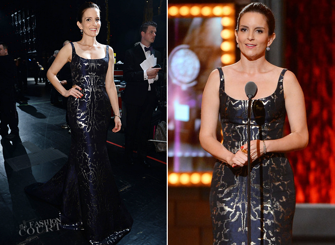 Tina Fey in Oscar de la Renta | 2014 Tony Awards