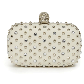 Alexander McQueen Studded Leather Minaudière Clutch